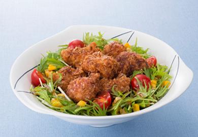鶏のおかか揚げサラダ仕立て