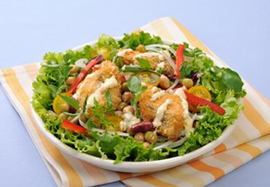鮭フライのサラダ