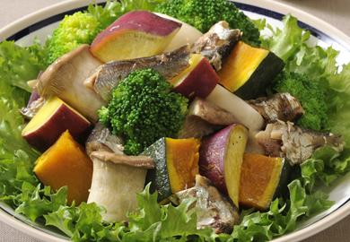 サーディンと旬菜のホットサラダ