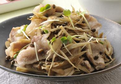 豚肉とごぼうの山椒炒め
