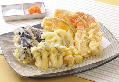 秋野菜の天ぷら盛り合わせ