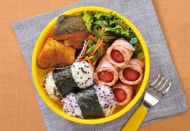 鮭のカレー風味弁当