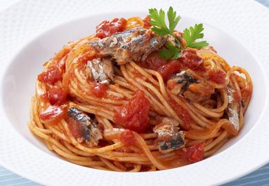 オイルサーディンのトマトパスタ