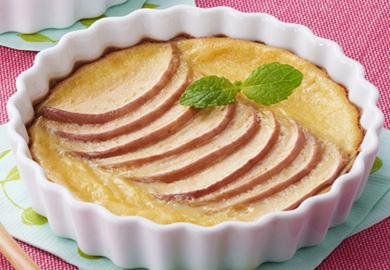 豆乳とりんごのクラフティ