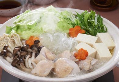 2種ぽん酢の水炊き