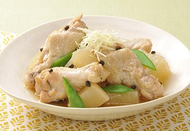 鶏手羽元と大根の山椒煮