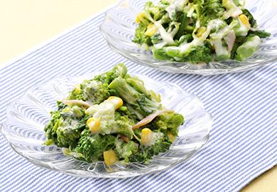 菜の花のコールスローサラダ