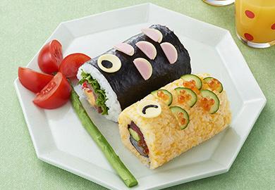 こいのぼりの巻き寿司