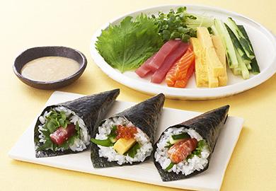 塩こうじ漬け手巻き寿司