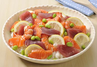 レモン風味のちらし寿司