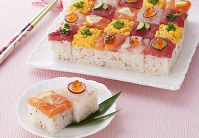 華やかモザイク寿司