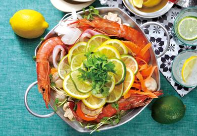 魚介のレモン&ライム鍋