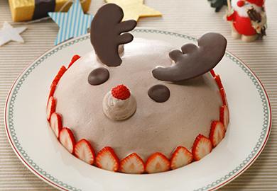 トナカイのドームケーキ