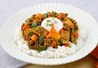 こうや豆腐のキーマカレー