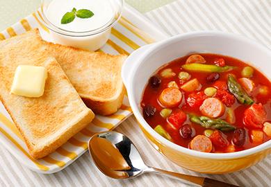 ミックスビーンズのトマトスープ