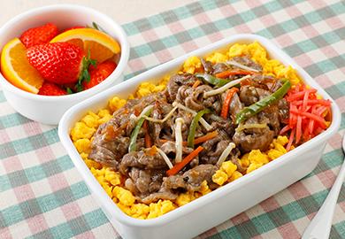 牛肉と野菜のドレッシング炒め弁当