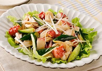 きゅうりとたこの中華サラダ