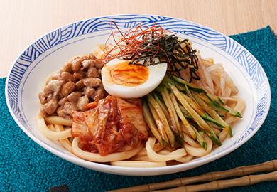 納豆のビビン麺風うどん