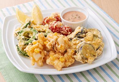 夏野菜のフリット オーロラ風ソース