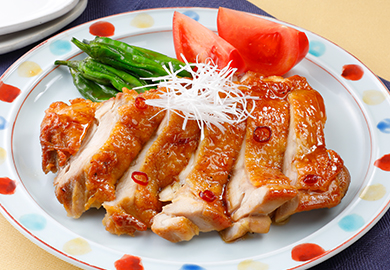 鶏肉としし唐の甘辛照り焼き