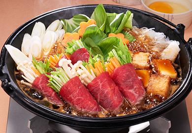 野菜の牛肉ロールすき焼