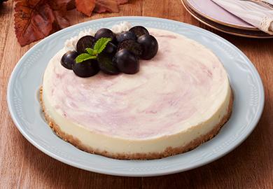 ぶどうのレアチーズケーキ