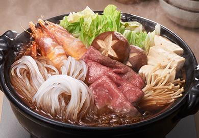 牛肉とえびの和風鍋