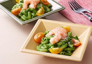 小松菜のジェノベーゼ風マカロニサラダ