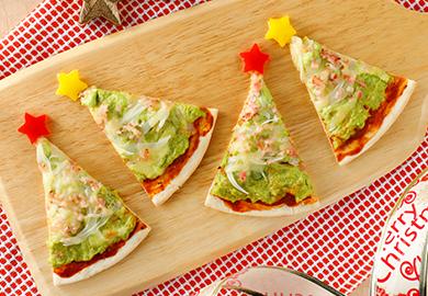アボカドマヨのツリーピザ