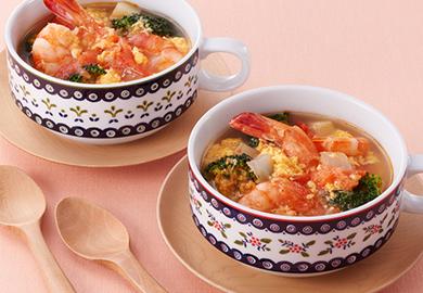 しょうがとえびのトマトスープ
