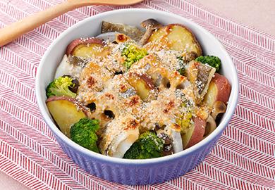 たらと野菜のマヨドレ焼き