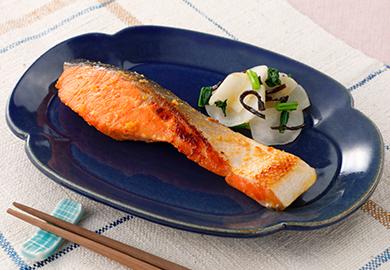 鮭の味噌ヨーグルト漬け焼き