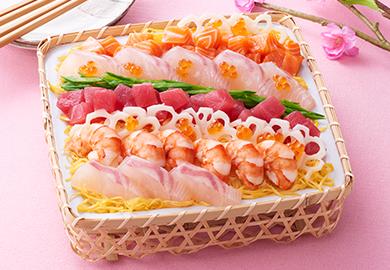 春の彩りちらし寿司
