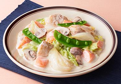 春野菜とチキンのクリーム煮
