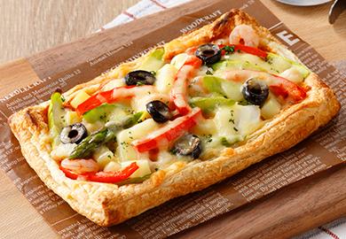 シーフードとポテトのパイピザ