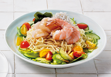魚介のサラダ冷し中華