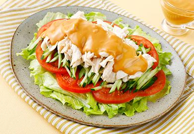 ピリ辛棒棒鶏サラダ