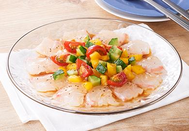 鯛のカルパッチョ 夏野菜ソース