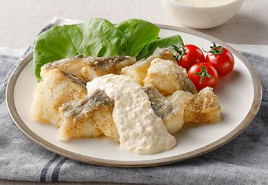 白身魚のから揚げ ハーブタルタルソース
