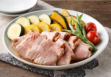 豚肉と夏野菜のだし浸し
