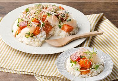 薬味たっぷり海鮮混ぜ寿司
