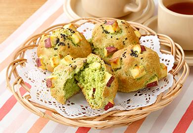 さつまいものグリーンパン