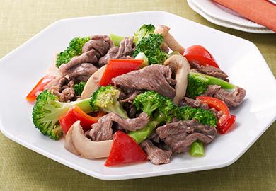 牛肉とブロッコリーの炒め物