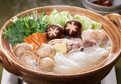 帆立の塩バター鍋