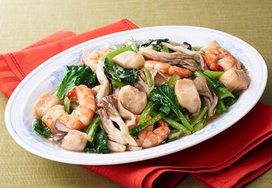 麩と小松菜の中華煮