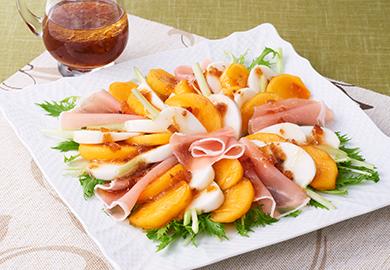 柿とかぶのカルパッチョ