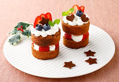 生チョコミニケーキ
