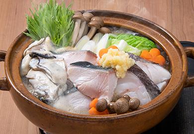 しょうがたっぷり魚介鍋