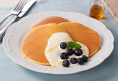 チーズクリームのパンケーキ