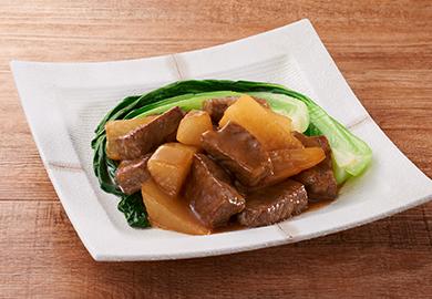 大根と牛肉の中華あんかけ